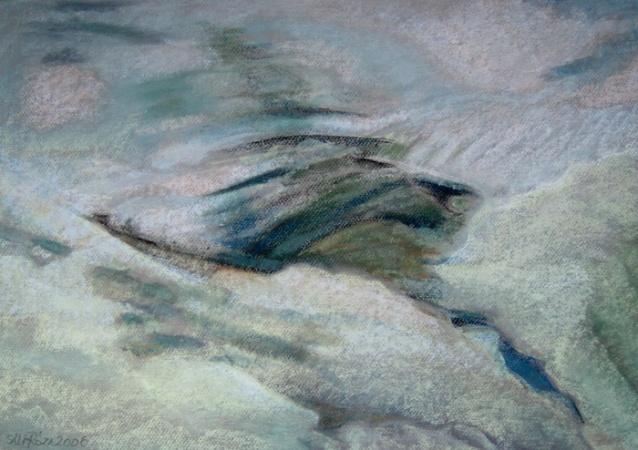 Róza Sáli painter: A jég hátán